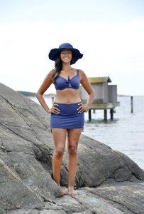 blå bikini